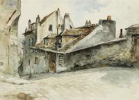 The various residences along the cobblestoned Rue Cortot in Montmatre was the home of many famous artists through the years.