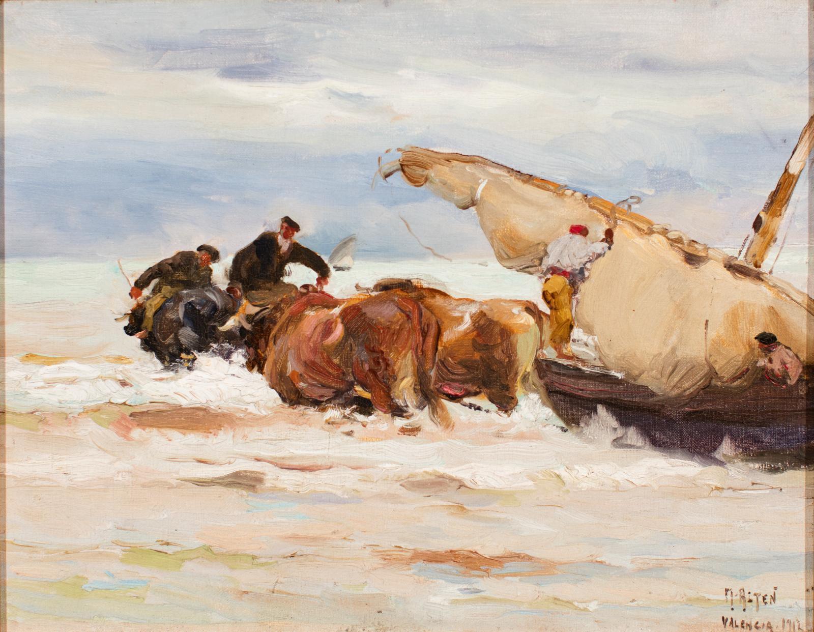 Seascape oil painting.