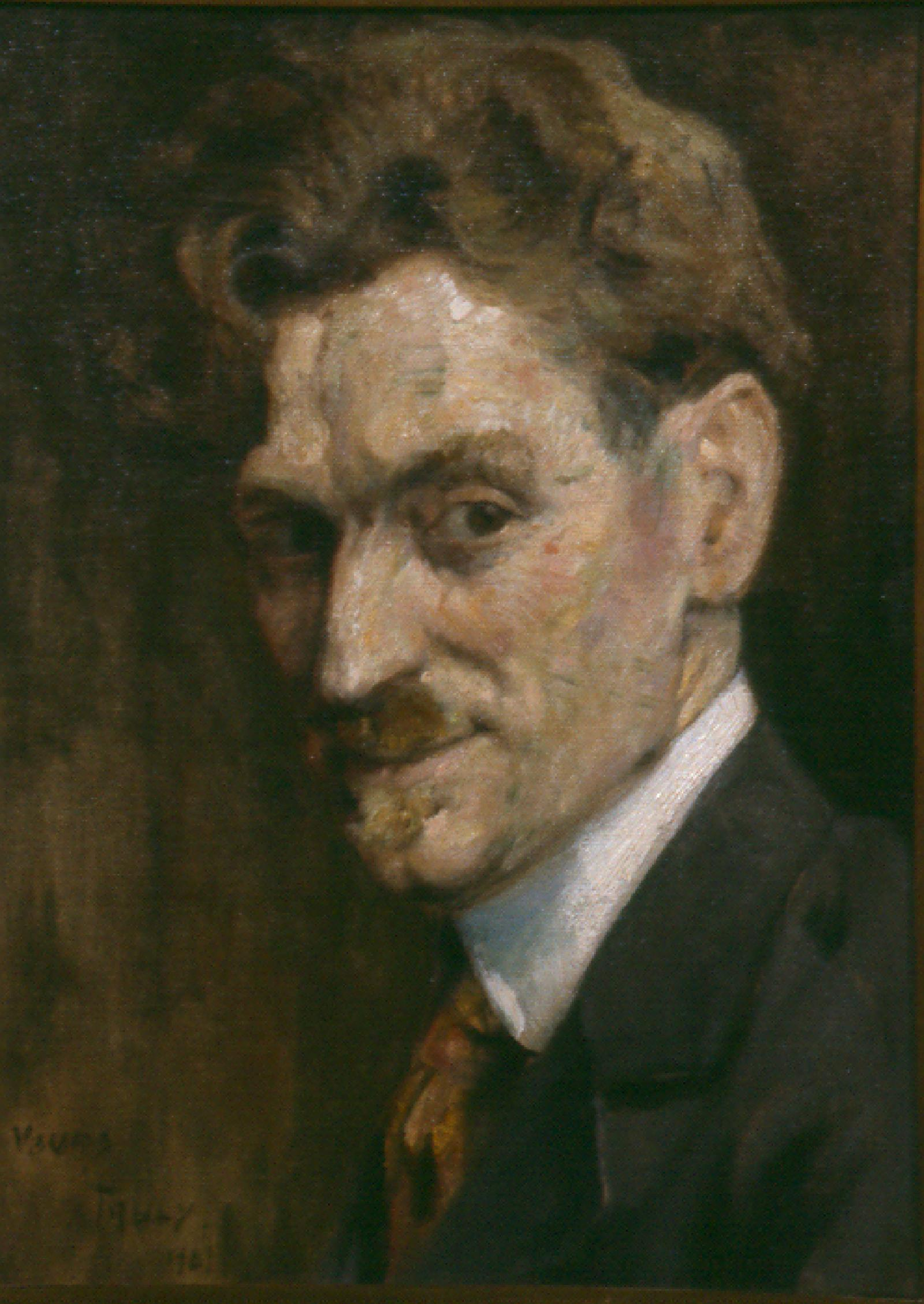 Self portrait of Mathias Alten.